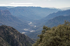 View of the Urique Canyon Stock Images