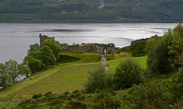 View of the Urquhart Castle, Loch Ness, Scotland, United Kingdom Stock Images