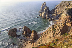 View of Ursa Beach, located near Cabo da Roca, Portugal Royalty Free Stock Photos