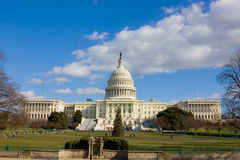 View on US Capitol in December Stock Photo