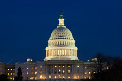 View on US Capitol at dusk. View on the US Capitol dome at dusk Royalty Free Stock Photos
