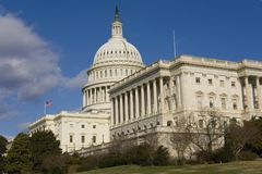 View on US Capitol in winter Stock Photography