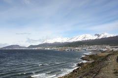 View of Ushuaia, Patagonia. Panorama of Ushuaia, Patagonia, from the coast Stock Image