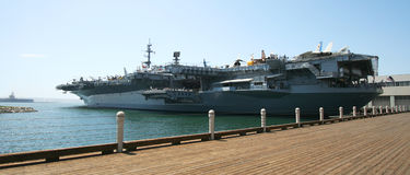 A View of the USS Midway Museum Royalty Free Stock Photos