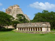 View of Uxmal in Mexico Stock Images