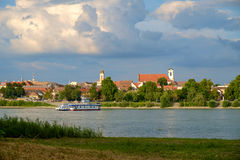 View of Vac city near the river Danube Stock Photos