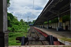View of vacant railway station, West Bengal, India. View of vacant railway station, West Bengal stock photos
