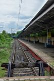 View of vacant railway station, West Bengal, India. View of vacant railway station, West Bengal royalty free stock photography