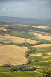 View at Val d'Orcia, Tuscany, Italy Stock Photography