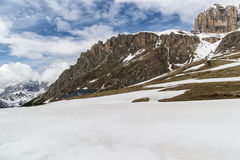View on Val di Fassa Royalty Free Stock Photo