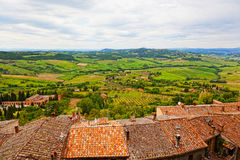 View of Val dOrcia valley. From an observation deck in Montepulciano. Tuscany, Italy Stock Images