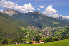View of the Val Gardena. In South Tyrol,Italy Stock Photo
