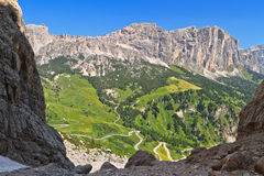 View from Val Setus Royalty Free Stock Photos