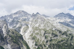 View from Valbona Pass over the Albanian Alps. Taken during a 9 hour hike Royalty Free Stock Image