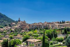 View of Valdemossa - old town in mountains of Mallorca island. Spain Royalty Free Stock Images