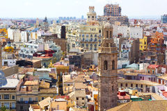 View on Valencia city from the tower. Royalty Free Stock Photos
