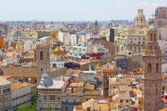 View on Valencia city from the tower.View on Valencia city from the tower. Stock Photography