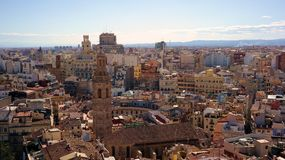 View of Valencia. Historical city centre from tower Stock Photography