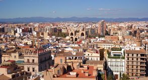 View of Valencia. Historical city centre from tower Royalty Free Stock Photo