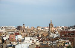 View of the Valencia from the Quart Towers royalty free stock photo