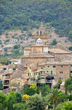 A View of Valldemossa in Mallorca, Spain Stock Photography