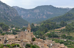 A View of Valldemossa in Mallorca, Spain Royalty Free Stock Photography