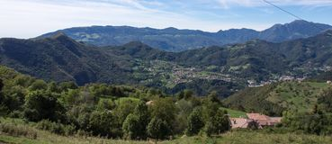 Valle brembana landscape royalty free stock images