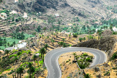 View of Valle Gran Rey La Gomera Stock Photography