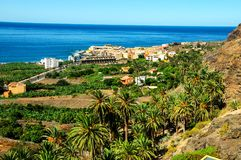 View of Valle Gran Rey La Gomera. Canary Islands Spain royalty free stock images
