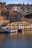 The view of Valletta capital city in the early morning. Malta Stock Images