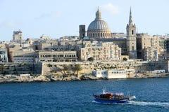 View of Valletta, the capital city of Malta. La Valletta, Malta - 2 Novembre 2017: View of Valletta, the capital city of Malta Stock Photos