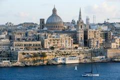 View of Valletta, the capital city of Malta. La Valletta, Malta - 2 Novembre 2017: View of Valletta, the capital city of Malta Stock Images