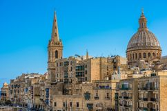 View of Valletta, the capital of Malta.  Stock Image