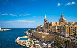View of Valletta, the capital of Malta.  Stock Photography