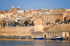 The view of Valletta city from  Kalkara over the Grand harbor, M Stock Image