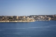 View of Valletta city in Malta. Mediterranean sea. Sunny summer day Royalty Free Stock Photos