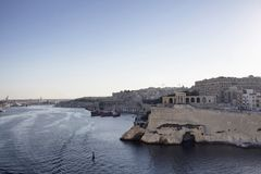 View of Valletta city in Malta. Mediterranean sea and sunny summer day Stock Images
