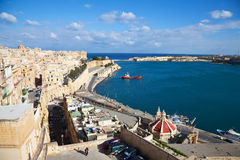View of Valletta and Grand Harbour Stock Images