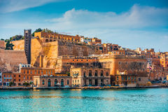 View on Valletta from The Grand Harbour Royalty Free Stock Image