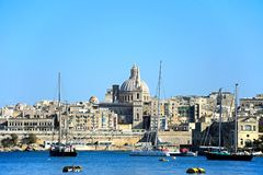 View of Valletta and the Grand Harbour, Malta. Stock Photos