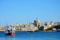 View of Valletta and the Grand Harbour, Malta. Stock Image