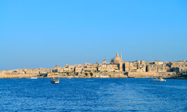 View on Valletta with its traditional architecture from the sea. Malta, view on Valletta with its traditional architecture from the sea Royalty Free Stock Photo
