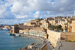 View of Valletta, Malta. View of old Valletta and Grand Harbour. Malta Royalty Free Stock Photo