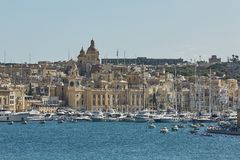 View of Valletta in Malta and its old architecture.  Stock Photography