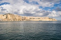 Valletta Outskirts and the Grand Harbour Royalty Free Stock Image