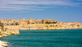 View on Valletta from sea Royalty Free Stock Images
