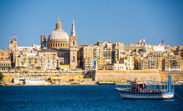 View of Valletta from sea Stock Image