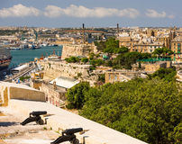 View on Valletta from sea Stock Photography