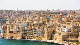 View on Valletta from sea Stock Image