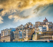 View on Valletta from sea Royalty Free Stock Photos